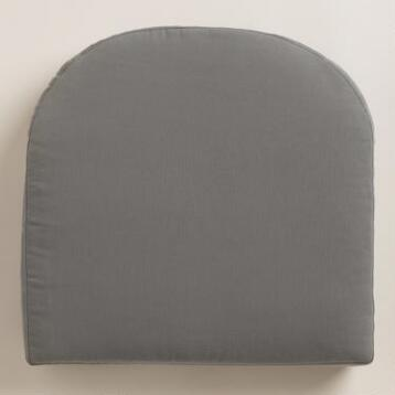 Gray Gusseted Outdoor Chair Cushion