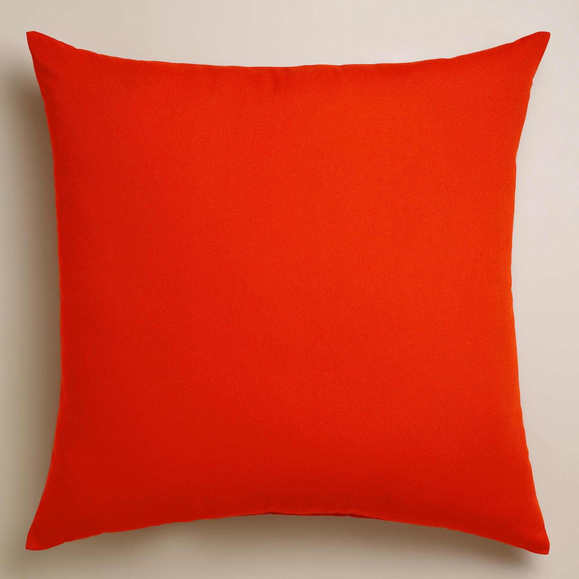 Throw Pillows With Orange : Orange Outdoor Throw Pillow World Market