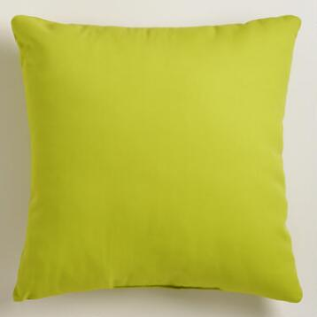 Green Outdoor Throw Pillow