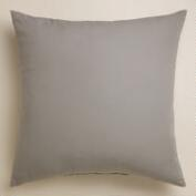 Gray  Outdoor Throw  Pillow