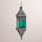 Small Green Square Hanging Lantern