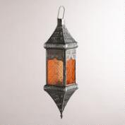 Warm Multicolor Medium Square Hanging Lantern