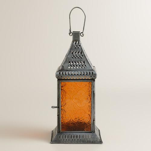Small Orange Tabletop Lantern