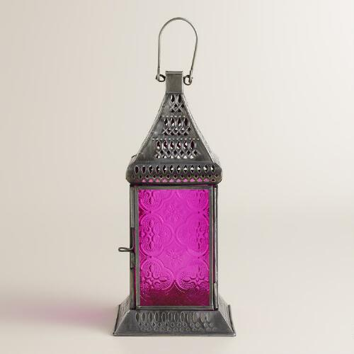 Small Pink Tabletop Lantern