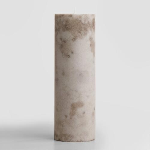 "3""x9"" Tanzanian Freesia Mottled Pillar Candle"