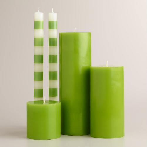Green Unscented Candle Collection