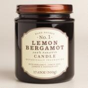 Lemon Bergamot Glass Apothecary Jar Candle
