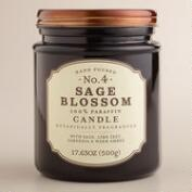 Sage Blossom Glass Apothecary Jar Candle