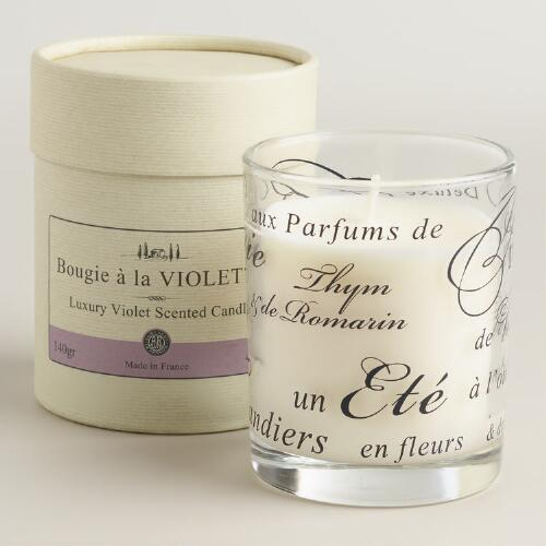 Violet Boxed French Candle