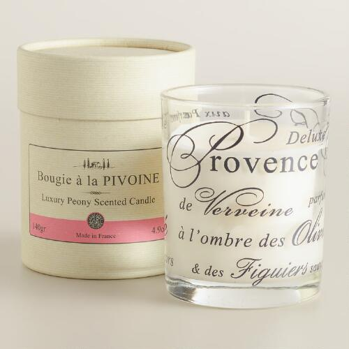 Peony Boxed French Candle