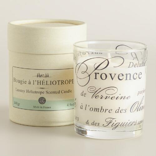 Heliotrope Boxed French Candle
