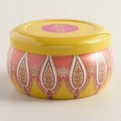 White Verbana Desert Paisley Candle Tin
