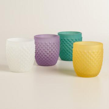 Opaque Honeycomb Votive Candleholders, Set of 4