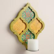 Hand-Painted Wood Jodhpur Sconce