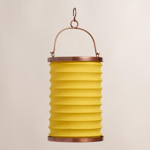 Yellow Fabric Folding Lantern