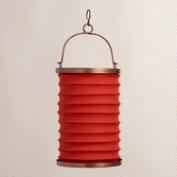 Spice Orange Fabric Folding Lantern