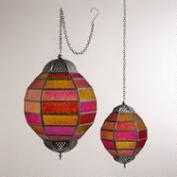 Warm Multicolor Globe Hanging Lantern