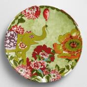 Citron Nomad Elephant Plates, Set of 4