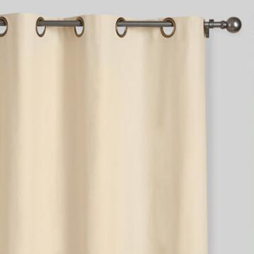 Natural Parker Grommet Top Curtains, Set of 2