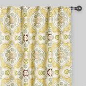Multicolor Mosaic Concealed Tab Top Curtains, Set of 2