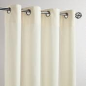 Ivory Grommet Top Outdoor Curtains, Set of 2