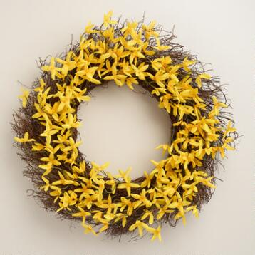 Yellow Forsynthia Wreath