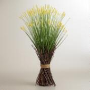Yellow Spring Grass Stacks, Set of 2