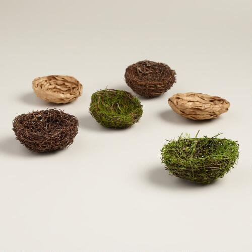Bird Nests, Set of 6