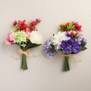Mixed Faux Flower Bouquets, Set of 2