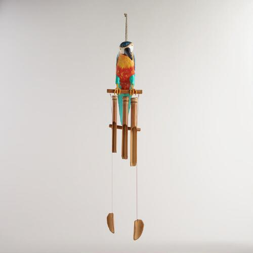 Bamboo Parrot Wind Chime