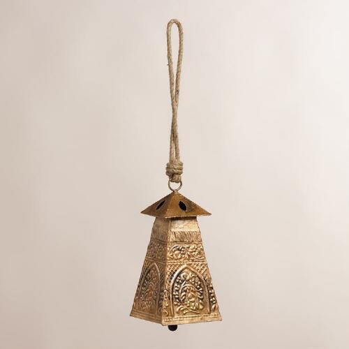 Embossed Metal Temple Bell Wind Chime