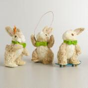 Cornhusk Activity Bunnies, Set of 3