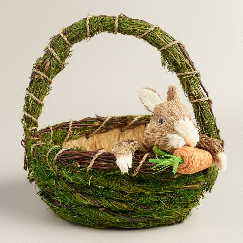 Natural Fiber Bunny Basket