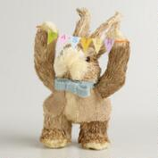 Natural Fiber Bunny with Garland