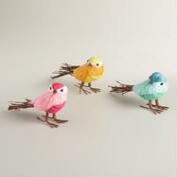 Natural Fiber Birds, Set of 3