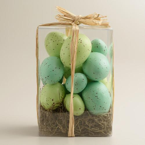 Boxed Blue and Green Eggs, 13-Count