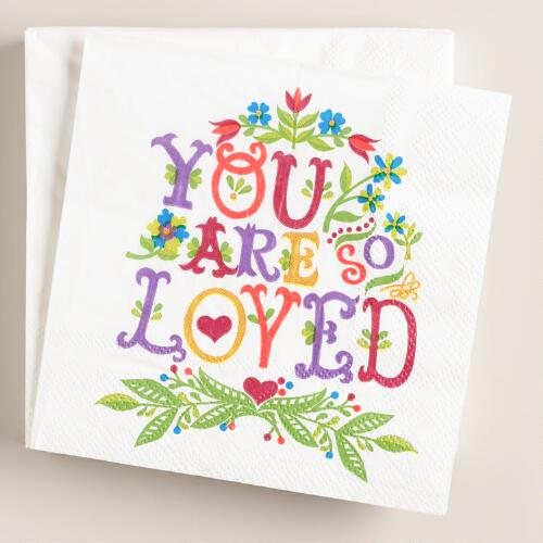 You Are So Loved Cocktail Napkins, 20-Count