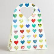 Small Rainbow Hearts Die-Cut Gift Bags, Set of 2