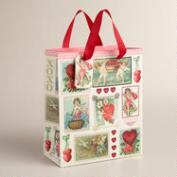 Small Vintage Print Gift Bags, Set of 2