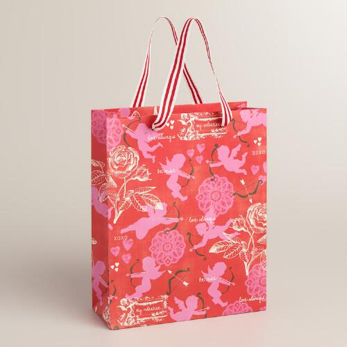 Medium Red Cupid Gift Bags, Set of 2