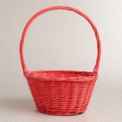 Large Coral Willow Ellie Easter Basket