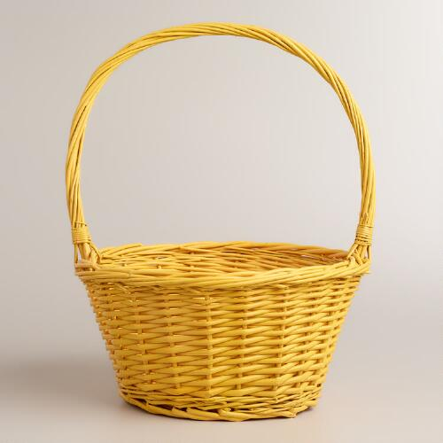 Large Yellow Willow Ellie Easter Basket