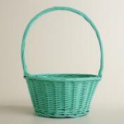 Large Aqua Willow Ellie Easter Basket