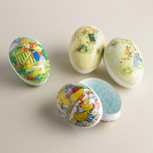 Medium German Easter Egg Containers,  Set of 4