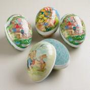Large German Easter Egg Containers, Set of 4
