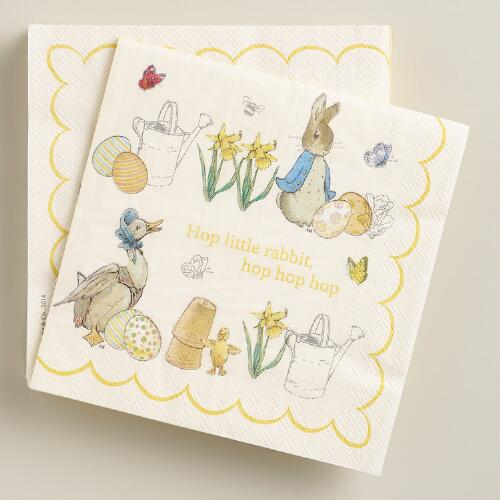 Large Peter Rabbit Lunch Napkins, 20-Count