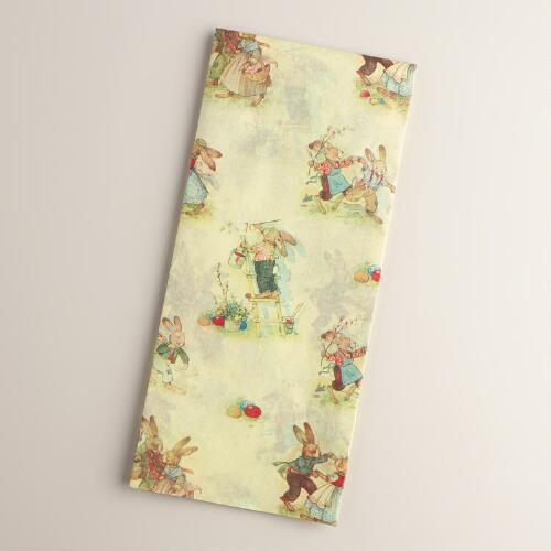 Vintage Bunnies Tissue Paper, 4-Count