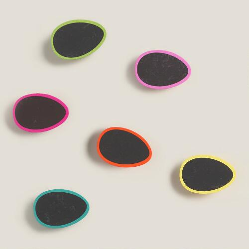 Chalkboard Egg Clips, Set of 6