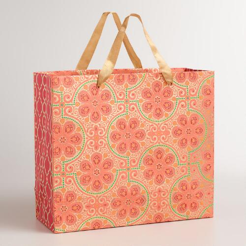 Extra-Large Red Nomad Tiles Gift Bag