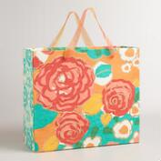 Extra-Large Floral Handmade Gift Bag